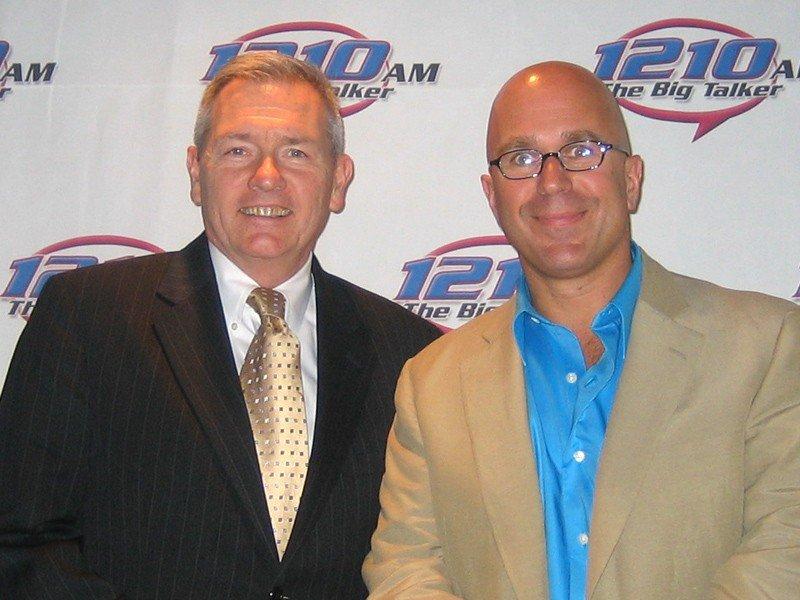 Lou Prevost of The Radnor Hotel with Radio Host Michael Smerconish.