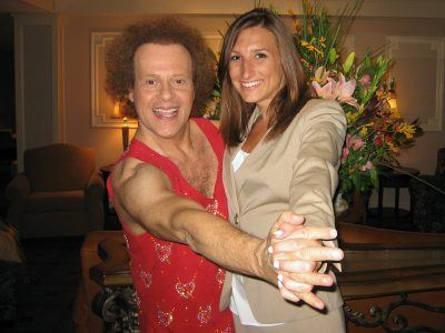 Colleen Orsino welcomes Richard Simmons at The Radnor Hotel