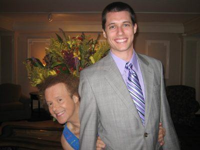 Justin Weeks welcomes Richard Simmons back to The Radnor Hotel