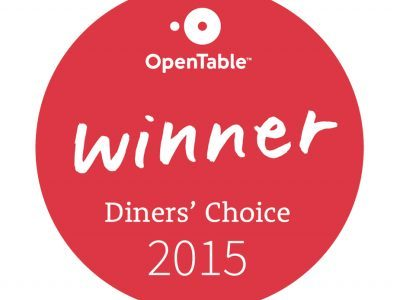 OpenTable Diners' Choice Winner