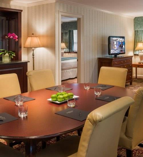 Premier Suite Dining & Living Area at The Radnor Hotel