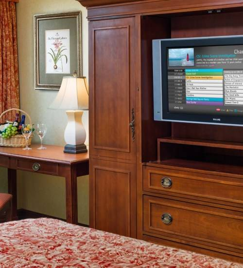 HDTV with HBO at The Radnor Hotel