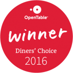 Opentable Diner's Choice Award 2016