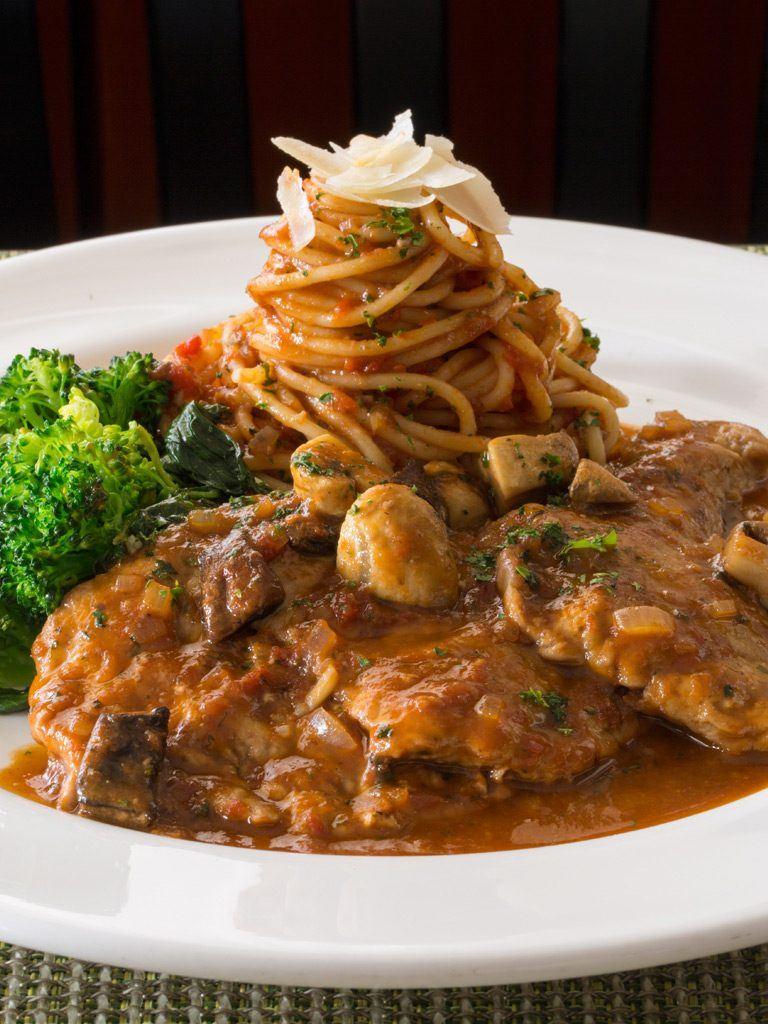 Classic Veal Marsala & Spaghetti