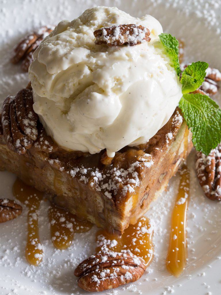 Pecan Sweet Potato Bread Pudding