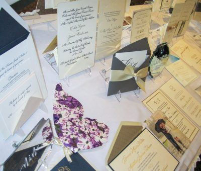 An inviting display from Paper Rock Scissors at the Main Line Bridal Event