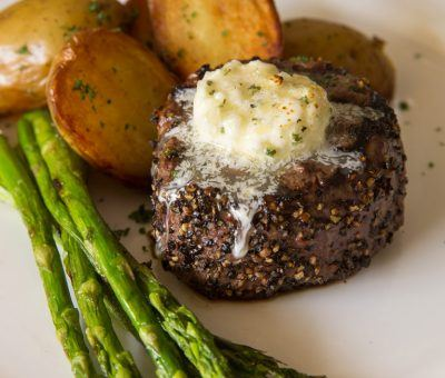 Petite Pepper-Crusted Filet Mignon