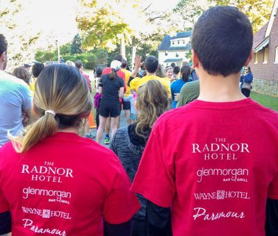 The Radnor Hotel Team getting ready for It Takes theVillage 5K Run