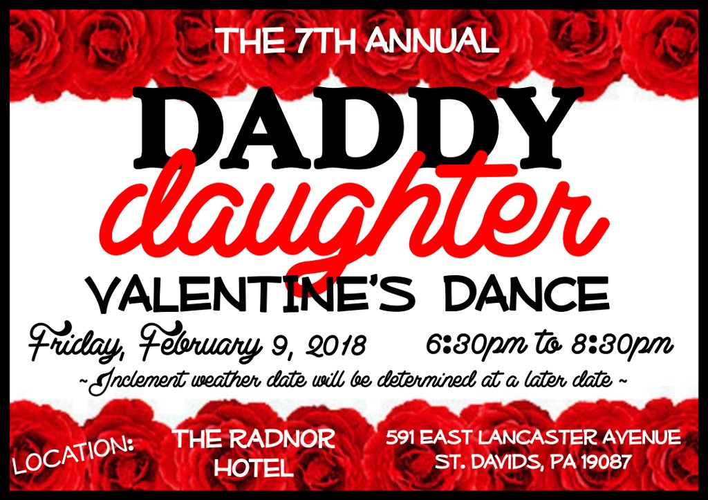the 7th annual daddy daughter valentines dance at the radnor