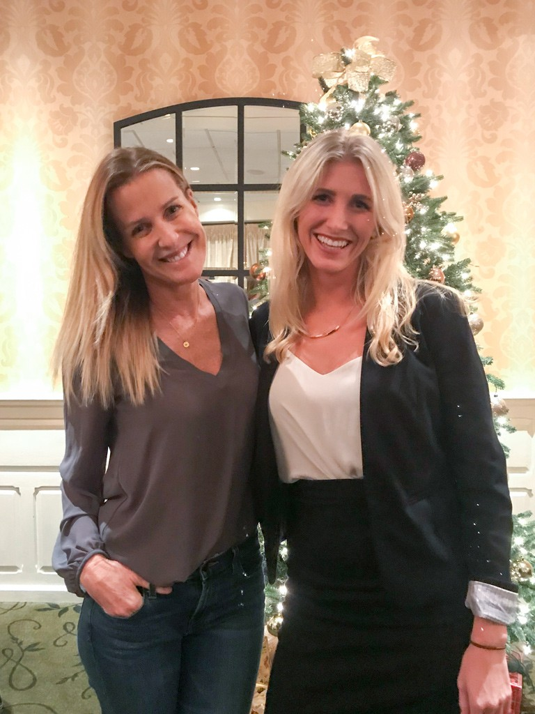 India Hicks with Karalea Mortimer, Sales Manager at The Radnor Hotel