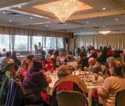 The Delaware County Press Club Holiday Luncheon with guest speaker, Lisa Thomas-Laury, at The Radnor Hotel