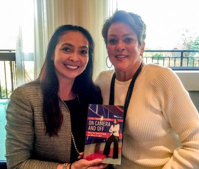 Vice President of Marketing & Public Relations for The Radnor Hotel, Anita Sayers, with award-winning broadcaster and local icon, Lisa Thomas-Laury at her book signing