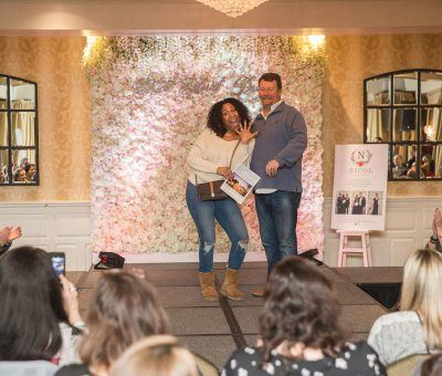 Winner of the Grand Prize Honeymoon with Bridget Ward Travel at the Main Line Bridal Event