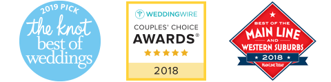 """Voted """"BEST WEDDINGS"""" 2018 by The Knot, Wedding Wire, and Main Line Today!"""