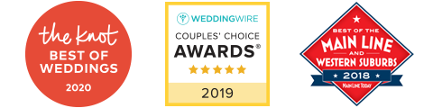 """Voted """"BEST WEDDINGS"""" by The Knot, Wedding Wire, and Main Line Today!"""