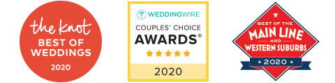 "Voted ""BEST WEDDINGS"" by The Knot, Wedding Wire, and Main Line Today!"