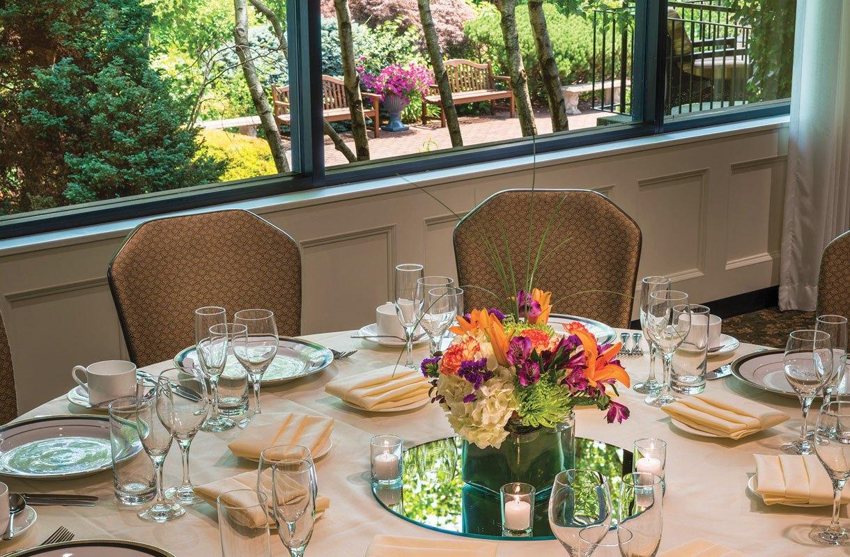 Garden Room Private Event Overlooking Formal Gardens